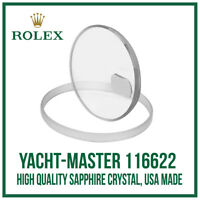 ♛ Sapphire Glass Crystal USA Made. High Quality For Rolex Yacht-Master 116622 ♛