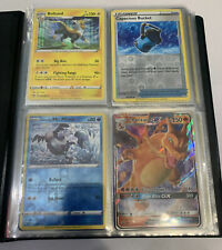 80 Holo Rare & Reverse Holo Pokemon Cards Collection Binder Lot B Charizard GX