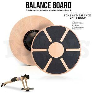 Fitness Wooden Balance Board Exercise Training Workout Wobble Rehabilitation Aid