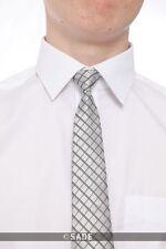 Niños Gris Plata Corbata de rayas