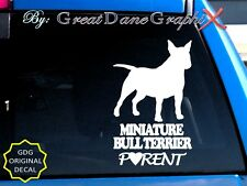 Miniature Bull Terrier PARENT(S) - Vinyl Decal Sticker/Color Choice-HIGH QUALITY