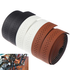 Bicycle Handlebar Tape Road Bike Pu Leather Perforated Belt Breathable Soft P5