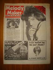 MELODY MAKER 1979 JAN 13 CHARLES MINGUS DIES XTC B-52 <