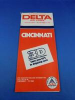 DELTA AIRLINES TIMETABLE QUICK REFERENCE SCHEDULE ADVERTISE 2D DENSITY DISCOUNT