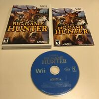 Cabela's Big Game Hunter Nintendo Wii, 2007 By Activision Games With Manual