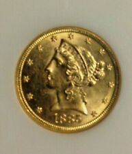 gold coin,liberty,as pictured,gold,quality,1885-S,$5,US,pre-1933,lovely,great,