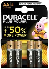 DURACELL PLUS POWER AA 4 PACK BATTERIES