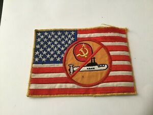 1980's USN  ANTI-SOVIET SUBMARINE FLAG PATCH