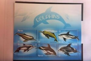 NEVIS DOLPHINS  MUH  MINI SHEET 6 STAMPS