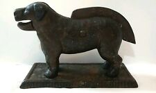 Primitive Antique Cast Iron Dog Nutcracker Doorstop Star Makers Mark