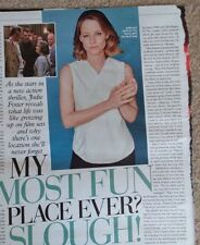 1 page clipping from the Weekend Mag 21st July 2018 Jodie Foster  a