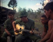 U.S.Soldiers resting after a hard days work 8x10 Vietnam War Photo 335