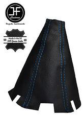BLUE STITCHING BLACK LEATHER MANUAL SHIFT BOOT FITS HONDA CIVIC COUPE 01-06