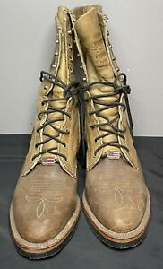Chippewa Crazy Horse Packer Western Logger 29405 Work Boots Men's Size 9 D