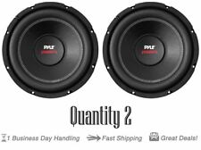 "Pair of New Pyle PLPW10D Car Subwoofer 1000W 4 Ohm 10"" Bass Audio Speaker Coil"