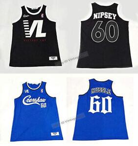 Crenshaw Hussle #60 Victory Lap Music Hip Hop Rap Basketball Jersey Sewn