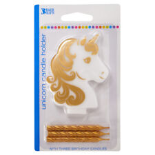 Unicorn Golden Horn Birthday Candle holder from Bakery Crafts