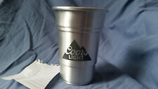Coors Light Silver Plastic 18 oz Cup Used #1