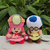 New Super Mario Bros Plush Captain Toad Toadette Backpack Stuffed Toy Doll 20cm