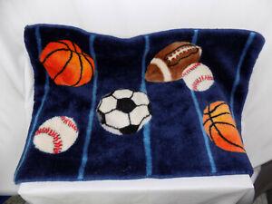 Basketball Football Baseball Sports Shower Mat Bathroom Bath Area Rug 30 x 20