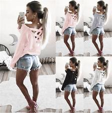 Fashion Womens Long Sleeve Blouse Sweatshirt Pullover Ladies Casual T-Shirt Tops