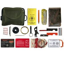 Pocket Survival Kit Olive Drab ESEE Knives Emergency Survival Gear MOLLE Pouch