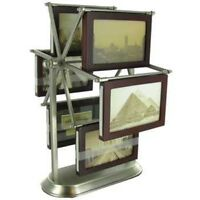 "Walnut & Pewter Carousel Photo Frame  Picture Frame 5"" x 3"""
