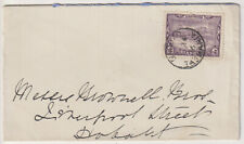 TASMANIA  1906: neat cover to Hobart mailed at BAGDAD w/clear postmark (2031)