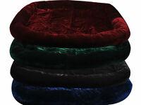 Pet Dog Cat Bed Cushion Mat Velvet Pad Warm Soft House 4 Color