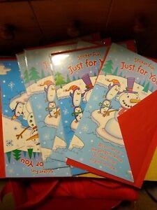 Christmas Snowman DIY Art Craft Kit Kids lot of 6  NEW *Sticker cards