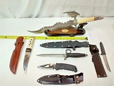 Lot Of 5 Fixed Blade Knives-Hunting/Survival/Personal Protection++