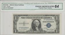 World Paper Money Us 1935-D $1.00 Dollar Silver Certificate C.G.A. 64