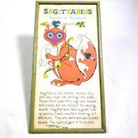 Vtg Margot Johnson MCM Mid Century Zodiac Horoscope Print 60s 16.5x8.5 Hippie