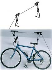 2 PACK Bike Bicycle Lift Ceiling Mounted Hoist Storage Garage Hanger Pulley Rack