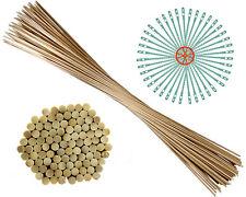 100 Blumenstäbe aus Bambus | Ø 6  mm | als Pflanzenstütze, Rankstäbe 90 cm