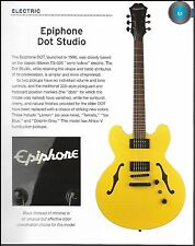 Epiphone Dot Studio guitar + ESP James Hetfield Truckster 6 x 8 history article