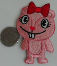 Happy Tree Friends Giggles Pink Chipmunk Embroidered Iron On Patch - New, Rare