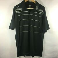 Adidas Climacool Golf Shirt Short Sleeve Polyester Mens Black Stripe Size XL