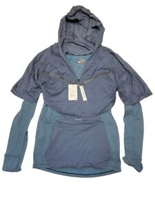 Nike Tech Pack Therma Sphere Blue Running Jacket Packable AR1709-427 Size Medium
