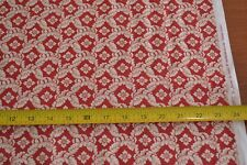 By 1/2 Yd, Cream on Red Quilting, Moda/3 Sisters/Etchings/4065 11, B393