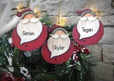 Personalised Santa ChristmasTree Decorations with names Christmas tree Ornaments