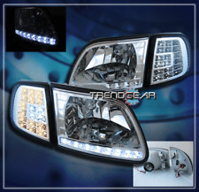 1997-2003 FORD F-150 EXPEDITION LED CRYSTAL HEAD LIGHTS+CORNER SIGNAL CLEAR LENS