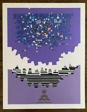 Risaburo Kimura Limited Serigraph Print City 138 1970 Cityscape Japanese