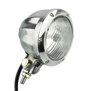 Headlight Lamp Bottom Mount Polished Custom Motorcycle Chopper Bobber For Harley