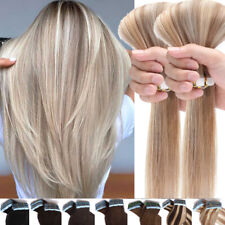 Russian 100% Remy Tape In Human Hair Extensions Skin Weft Thick Full Head 80pcs