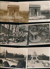 France PARIS x21 c1910/50s RP PPCs real photo cards