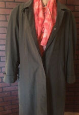 NEW YORK HARBOR from ANDREA Fully LINED Green TRENCH COAT Size 22W