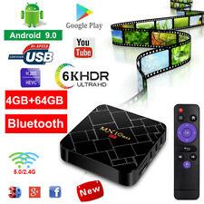 6K UHD MX10 MAX Android 9.0 4+64G Smart TV BOX Quad Core H.265 USB3.0 5G WIFI