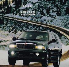 Lrg. 1998 LINCOLN NAVIGATOR Brochure / Catalog with Color Chart