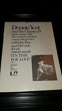 Dennis Yost Classics IV It's Time For Love Rare Promo Poster Ad Framed!